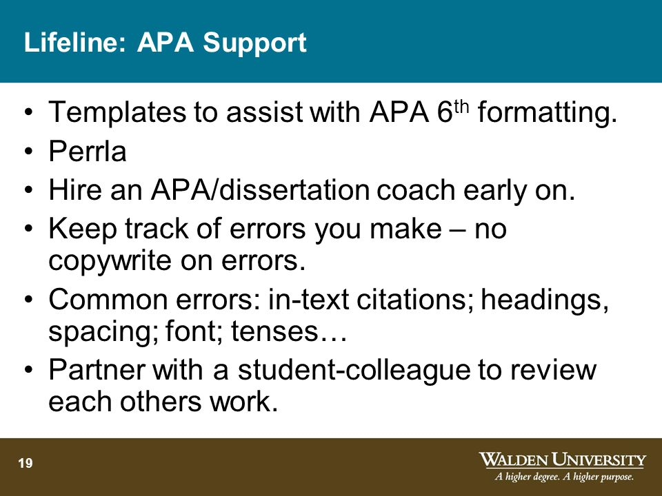 Templates to assist with APA 6th formatting. Perrla