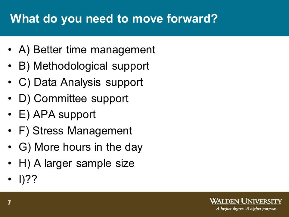 What do you need to move forward
