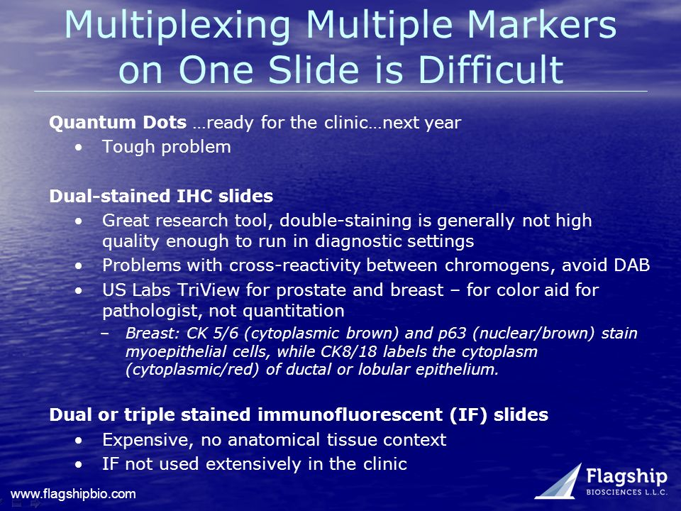 Multiplexing Multiple Markers on One Slide is Difficult