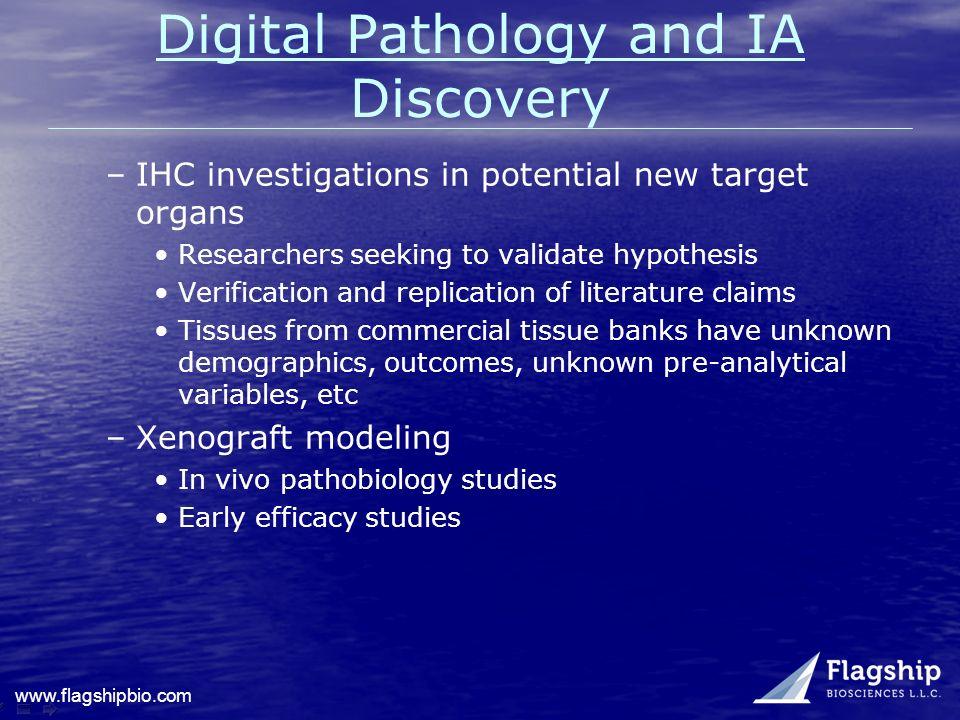 Digital Pathology and IA Discovery