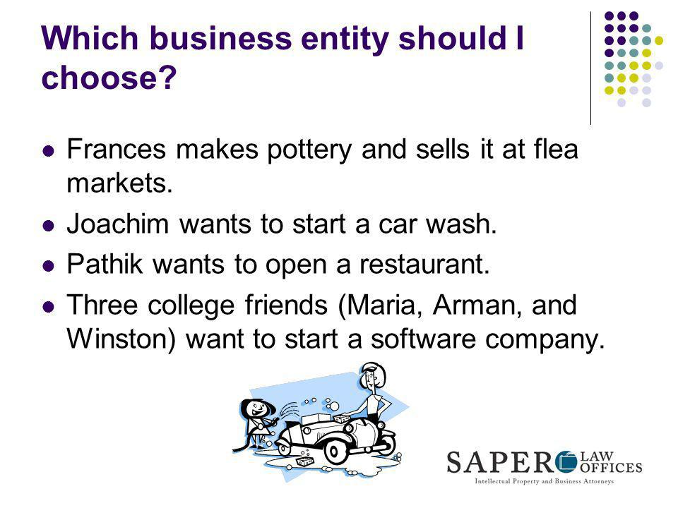 Which business entity should I choose
