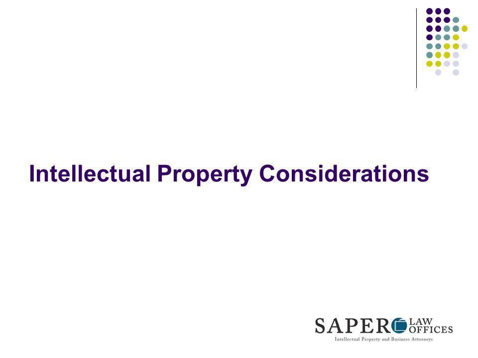 Intellectual Property Considerations