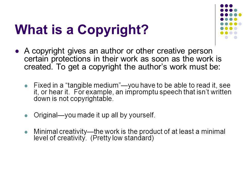 What is a Copyright