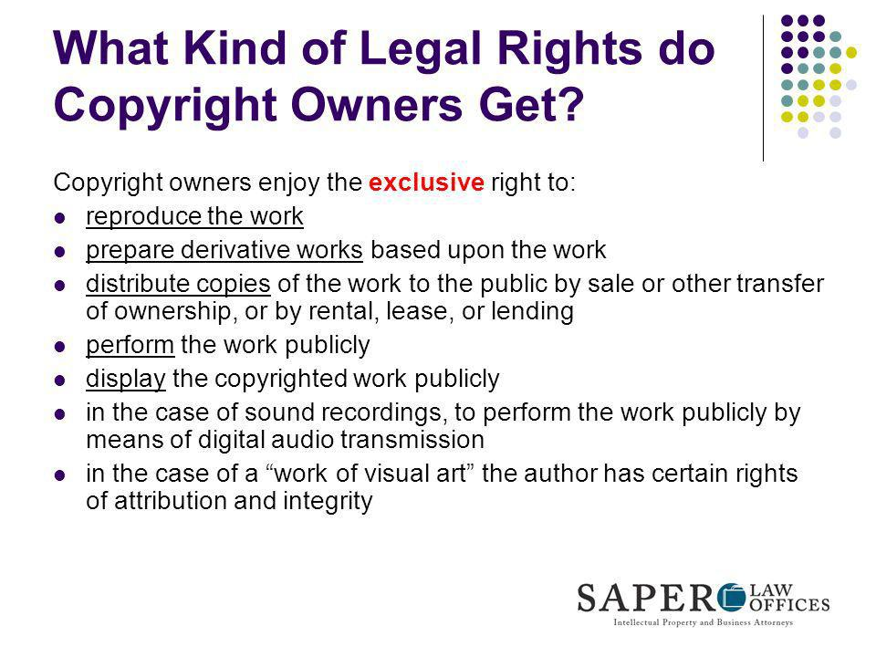 What Kind of Legal Rights do Copyright Owners Get