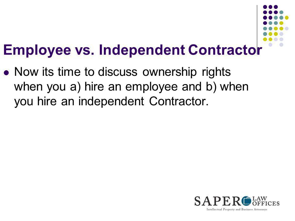 Employee vs. Independent Contractor