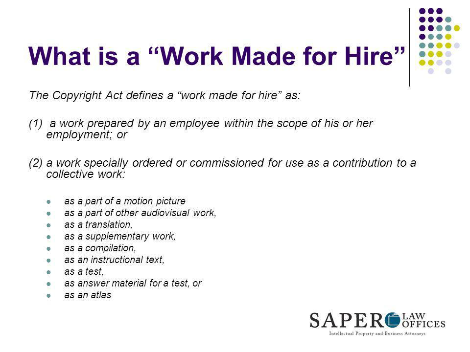 What is a Work Made for Hire