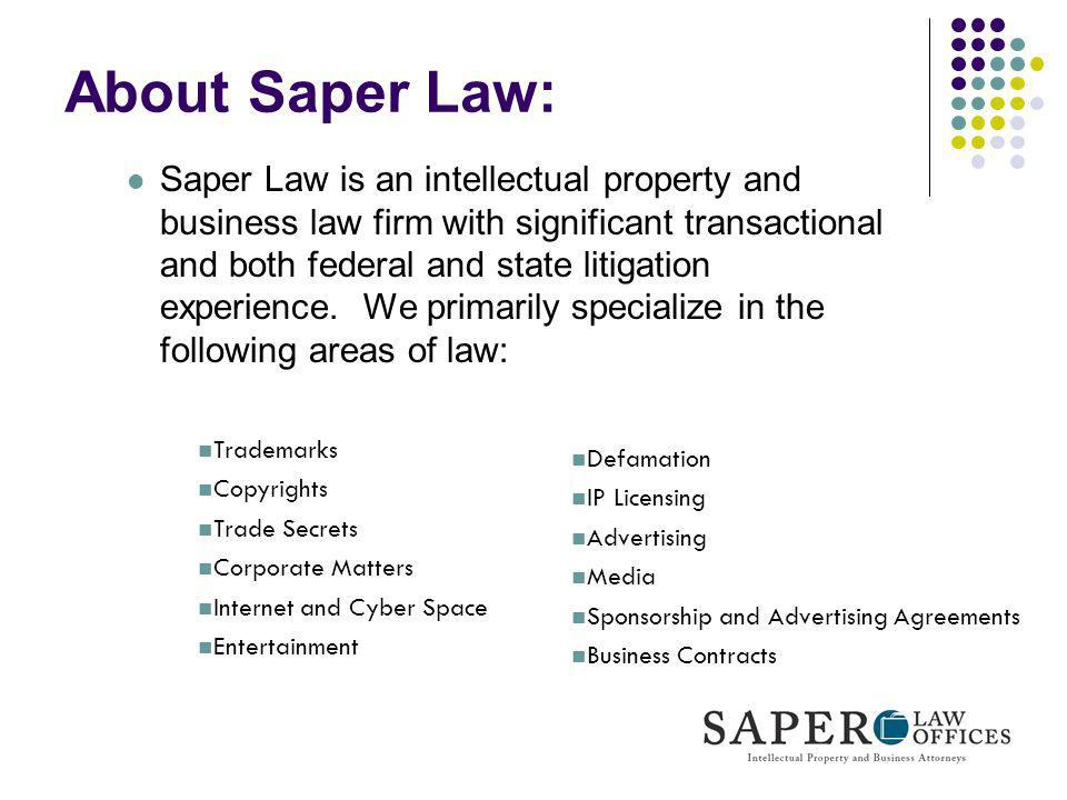 About Saper Law: