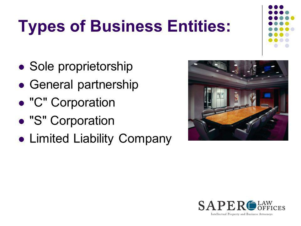Types of Business Entities: