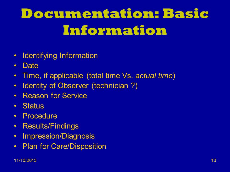Documentation: Basic Information