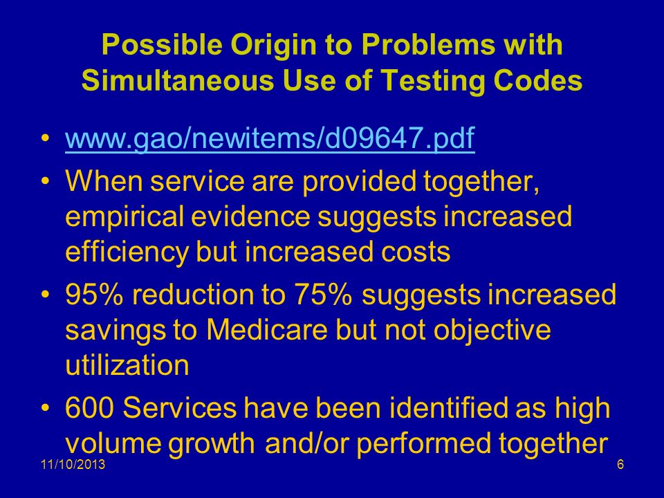 Possible Origin to Problems with Simultaneous Use of Testing Codes