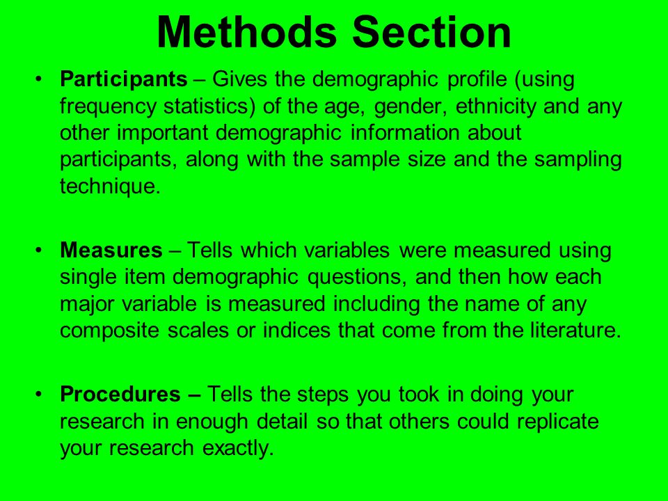 Methods Section