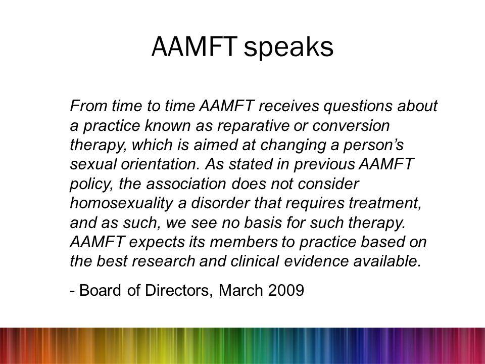 AAMFT speaks