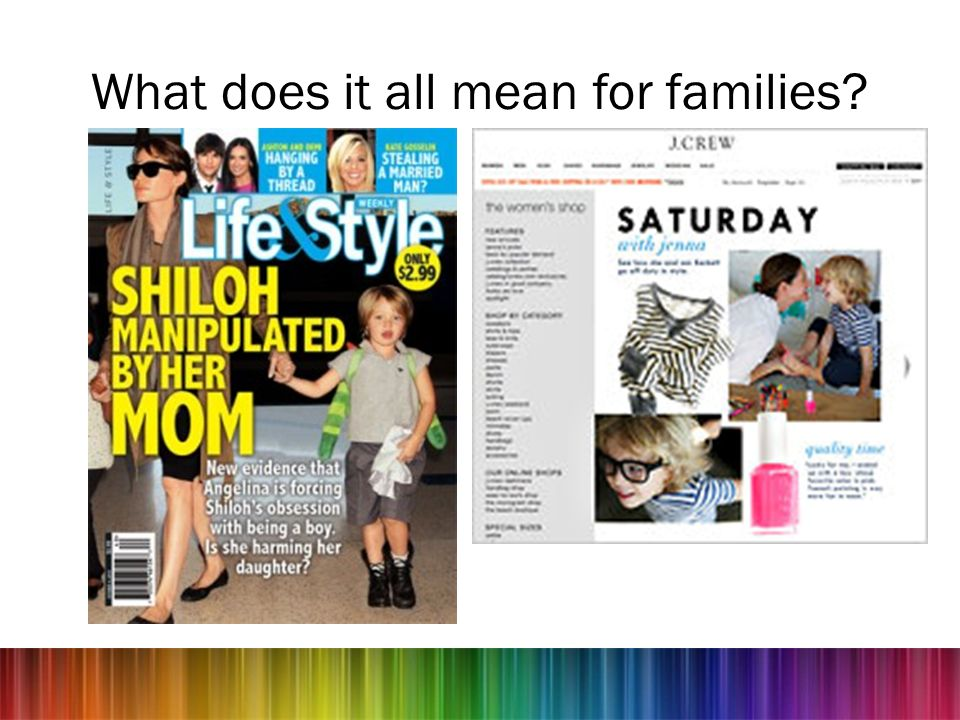 What does it all mean for families