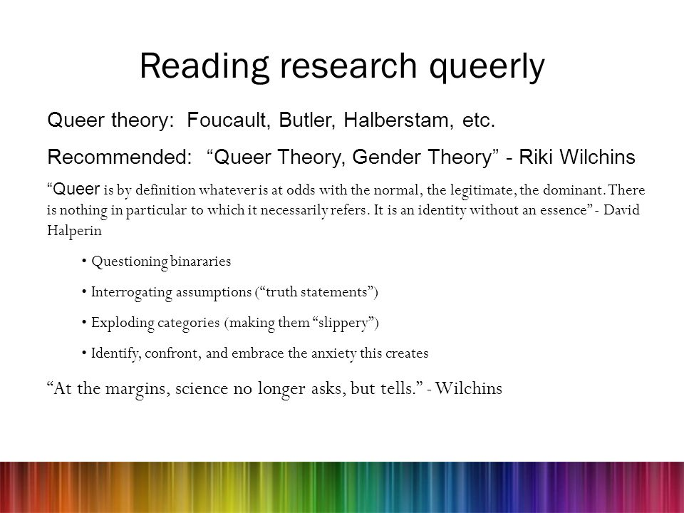 Reading research queerly