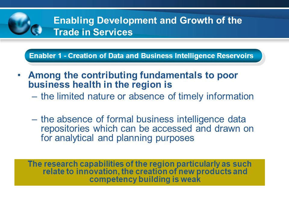 Enabling Development and Growth of the Trade in Services
