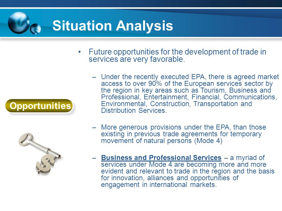 Situation Analysis Opportunities
