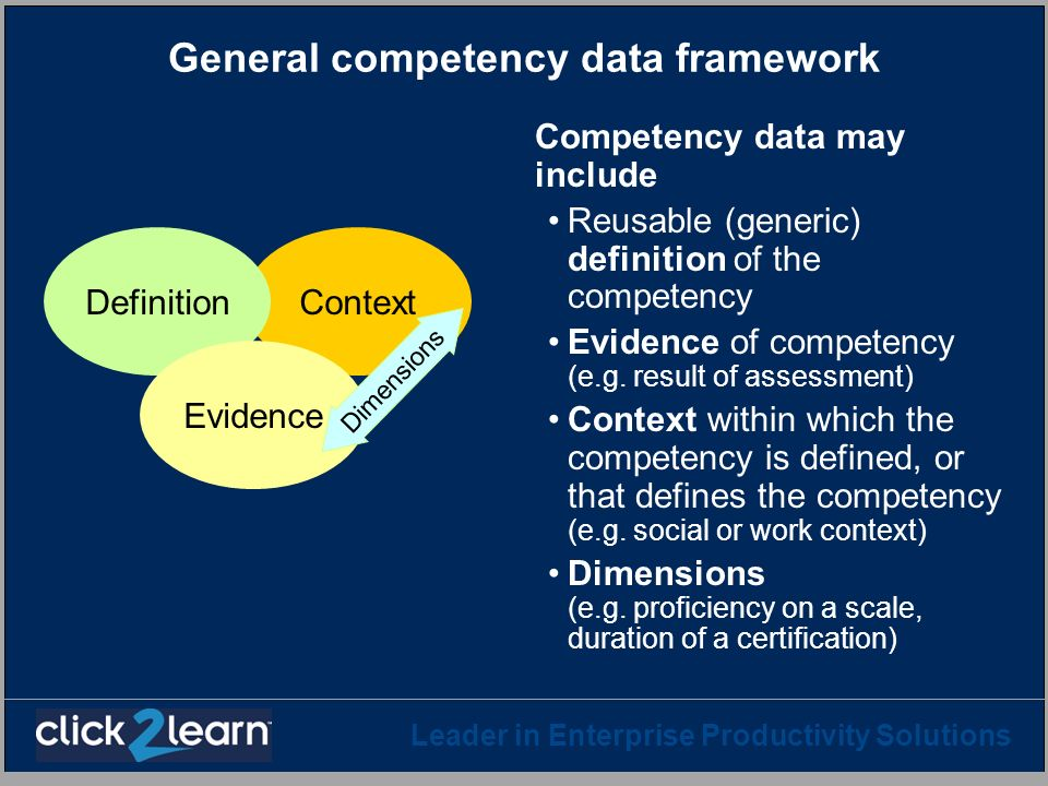 General competency data framework