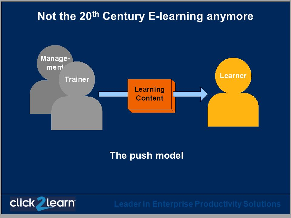 Not the 20th Century E-learning anymore