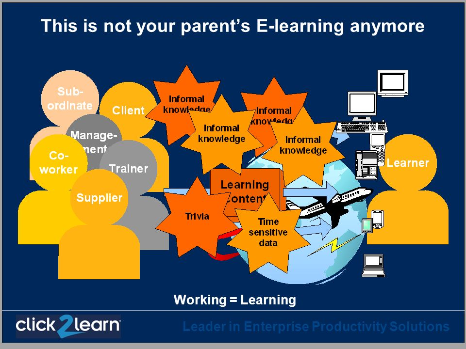 This is not your parent's E-learning anymore