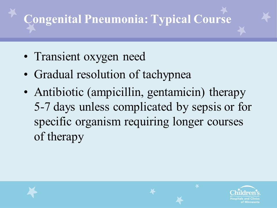Congenital Pneumonia: Typical Course