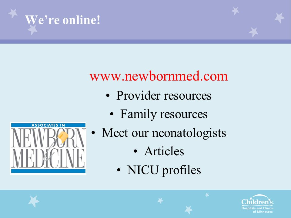 Meet our neonatologists