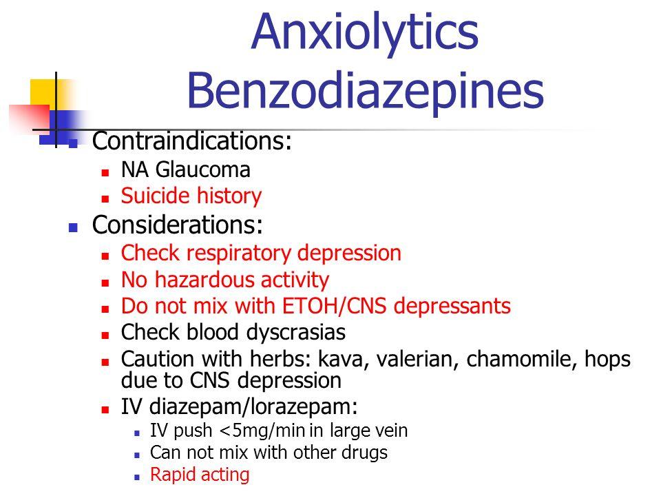 Anxiolytics Benzodiazepines