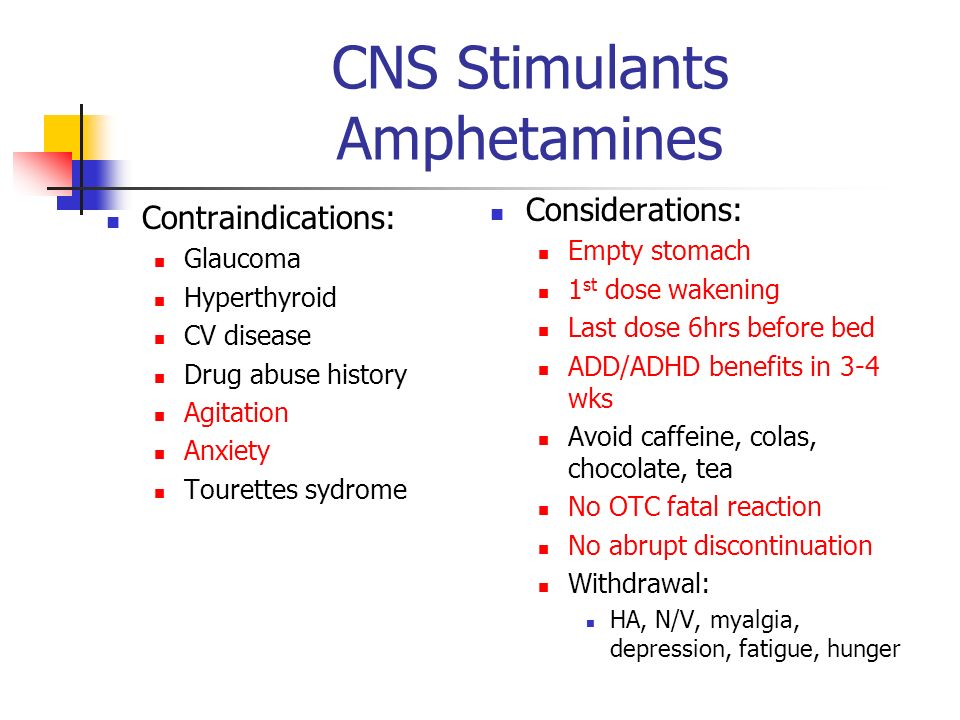 CNS Stimulants Amphetamines