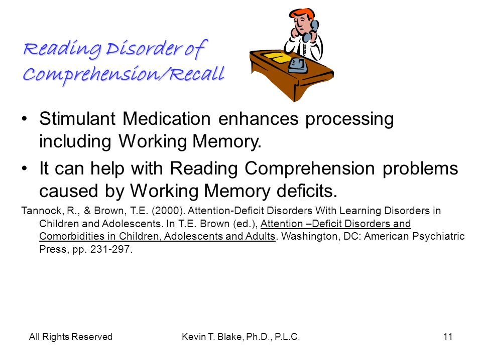 Reading Disorder of Comprehension/Recall