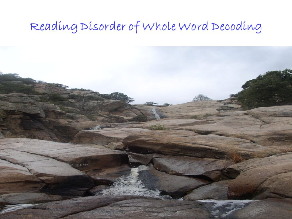 Reading Disorder of Whole Word Decoding