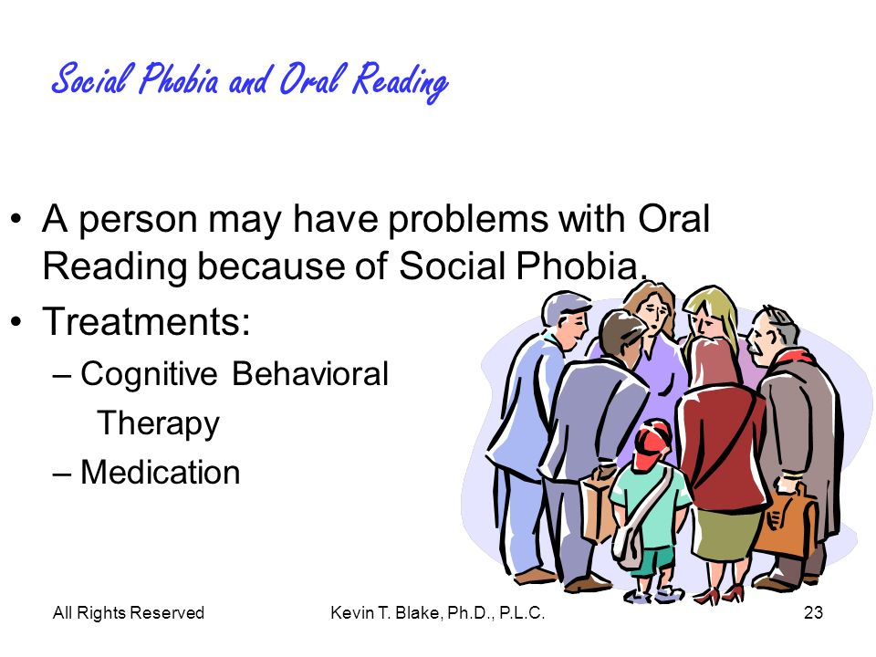 Social Phobia and Oral Reading