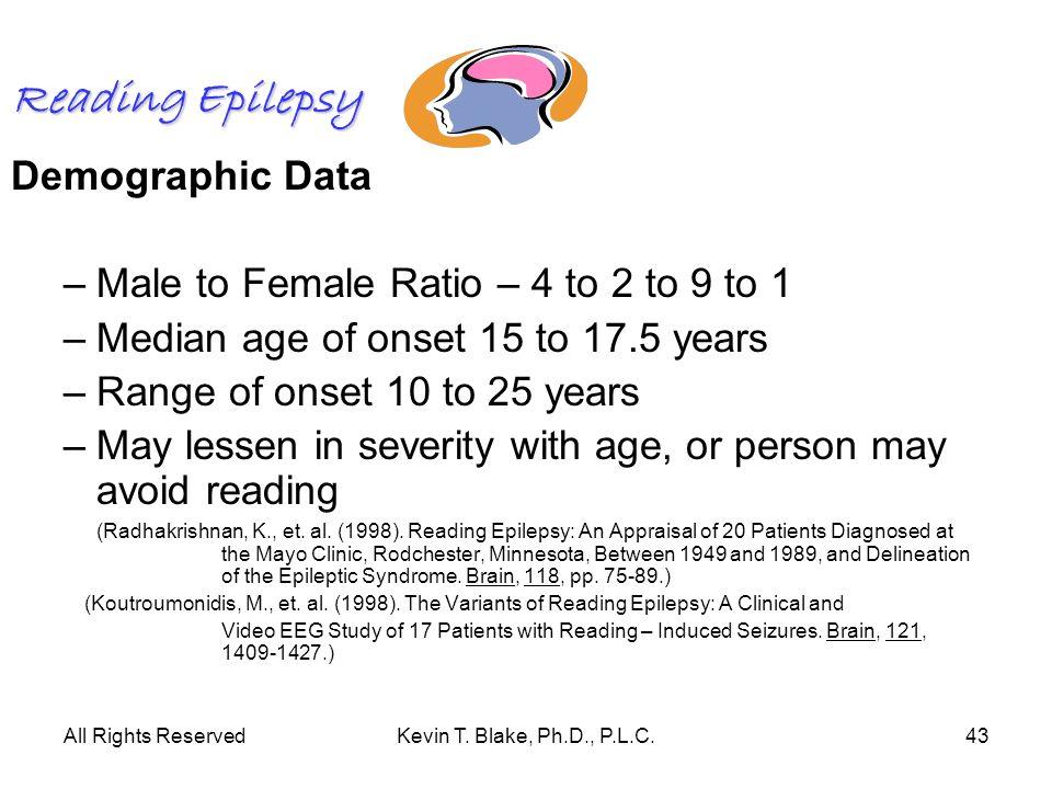 Reading Epilepsy Demographic Data