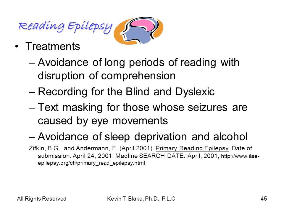Reading Epilepsy Treatments