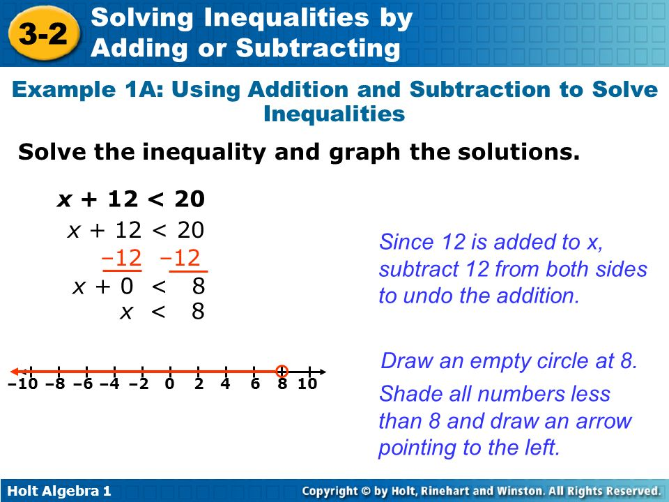 Example 1A: Using Addition and Subtraction to Solve