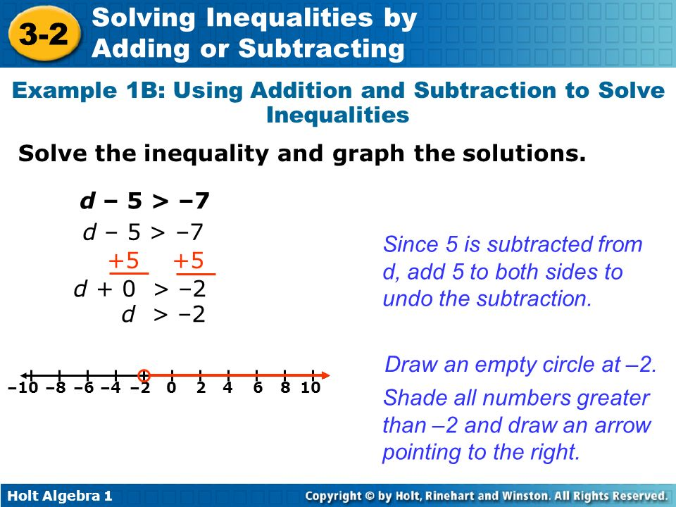 Example 1B: Using Addition and Subtraction to Solve