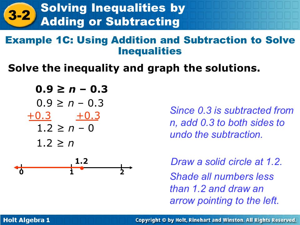 Example 1C: Using Addition and Subtraction to Solve