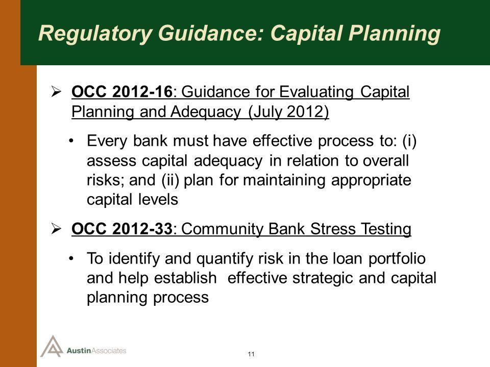 Regulatory Guidance: Capital Planning