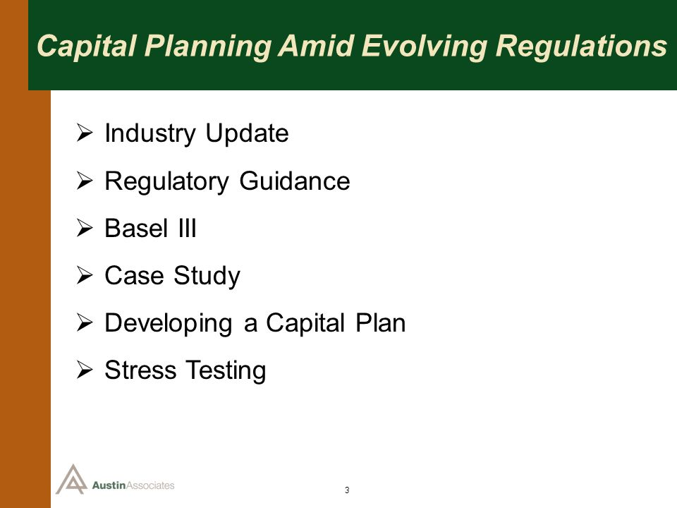 Capital Planning Amid Evolving Regulations
