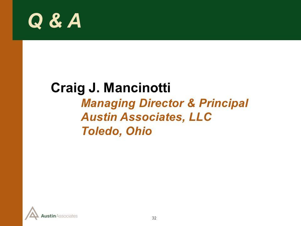 Q & A Craig J. Mancinotti Managing Director & Principal
