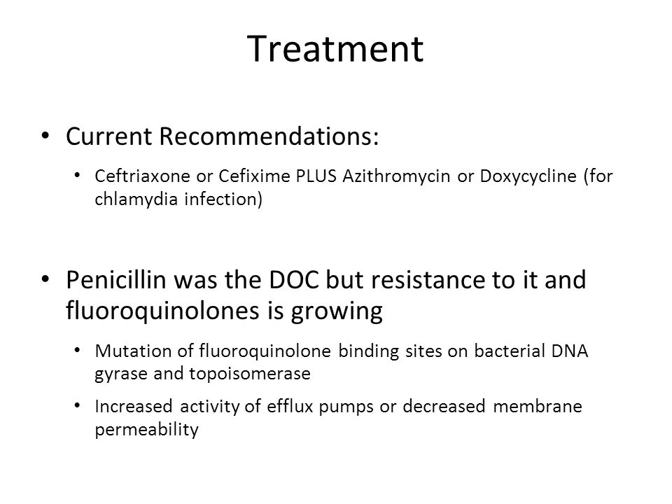 Treatment Current Recommendations: