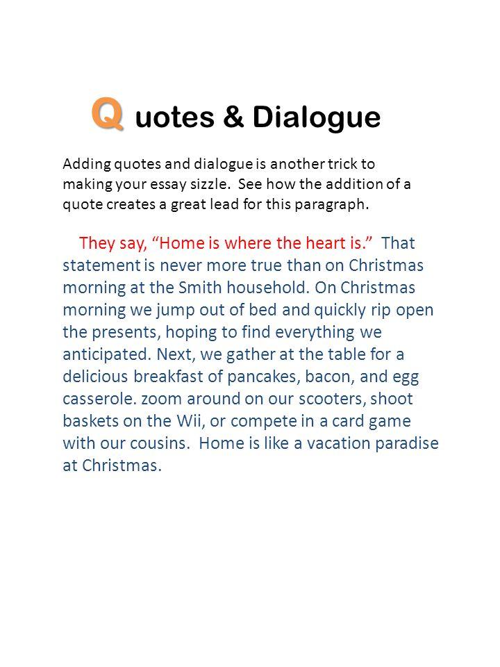 Quotes & Dialogue.