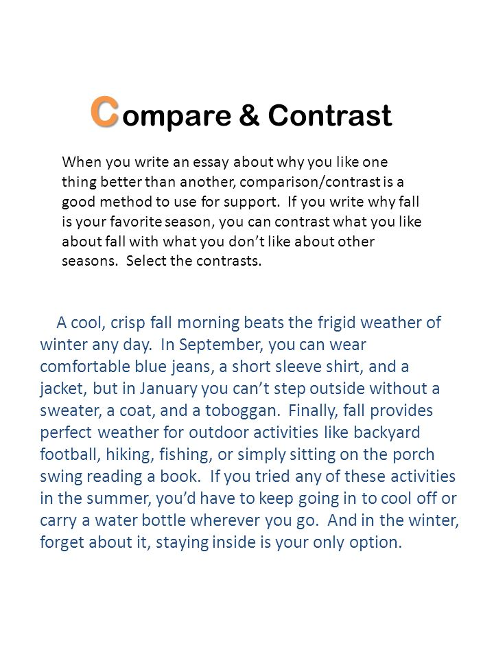 Compare & Contrast.