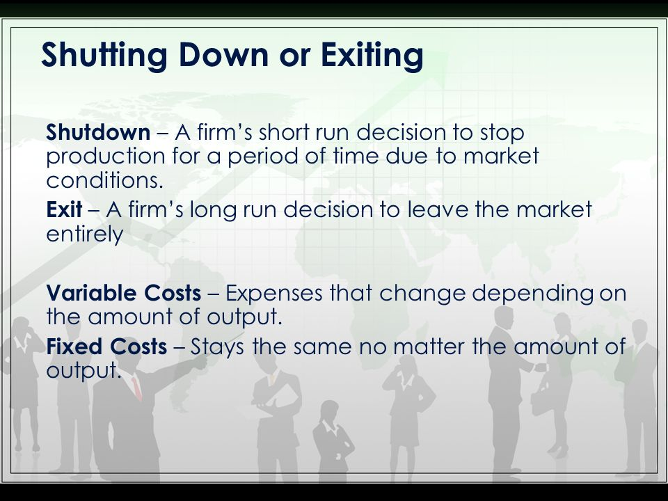 Shutting Down or Exiting