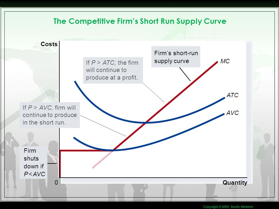 The Competitive Firm's Short Run Supply Curve