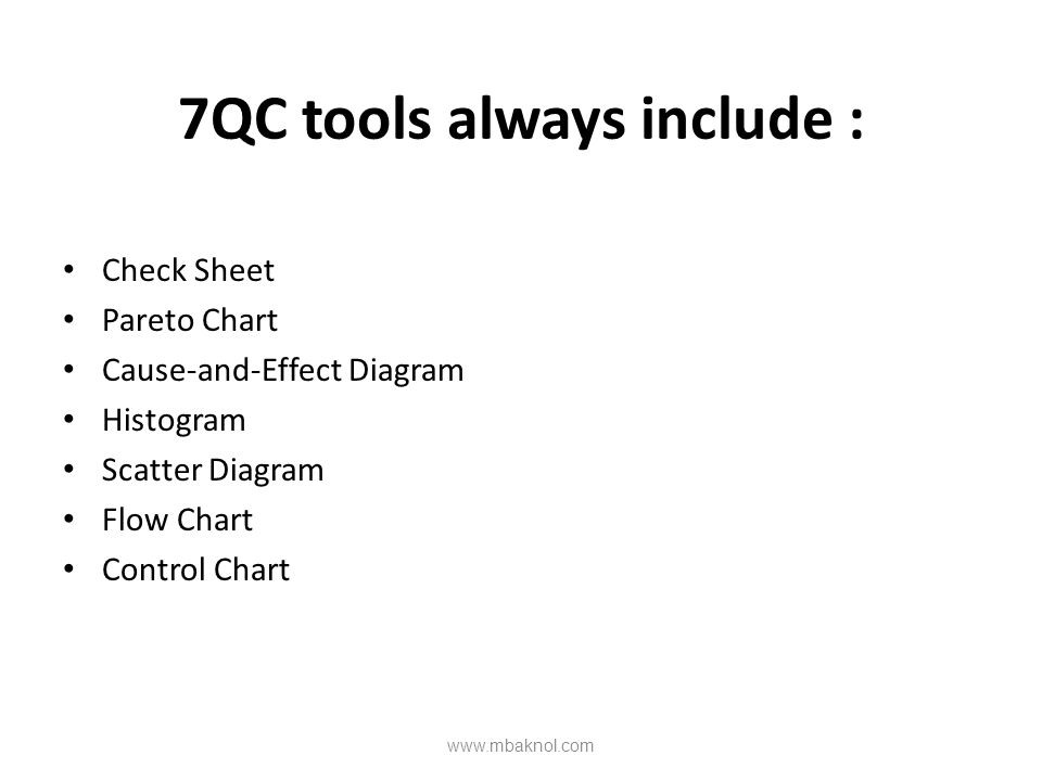 7QC tools always include :