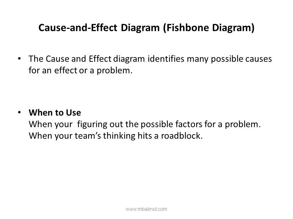 Cause-and-Effect Diagram (Fishbone Diagram)