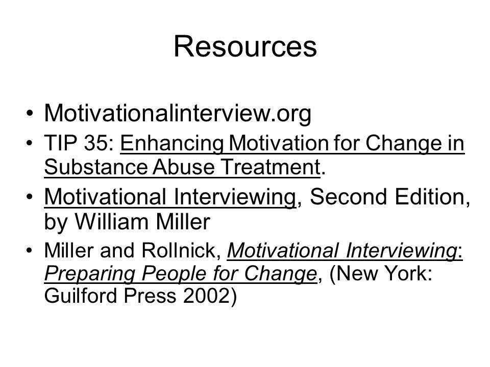 Resources Motivationalinterview.org