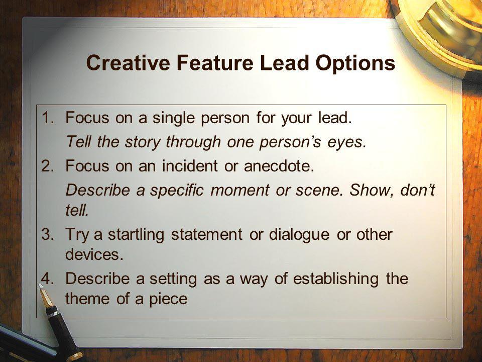 Creative Feature Lead Options
