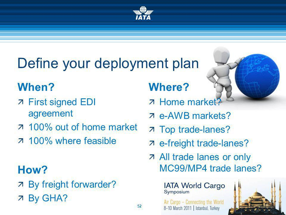 Define your deployment plan