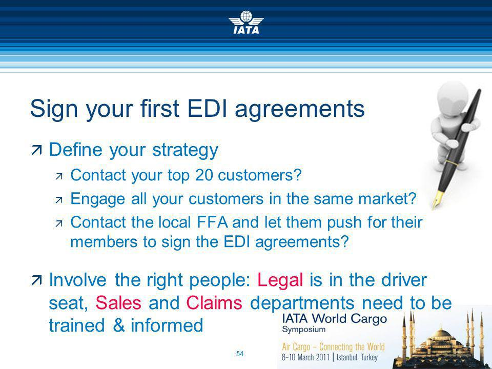 Sign your first EDI agreements