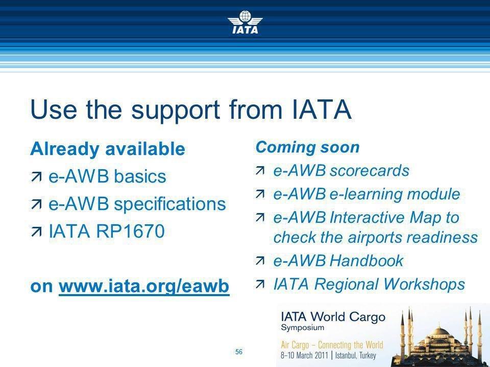 Use the support from IATA